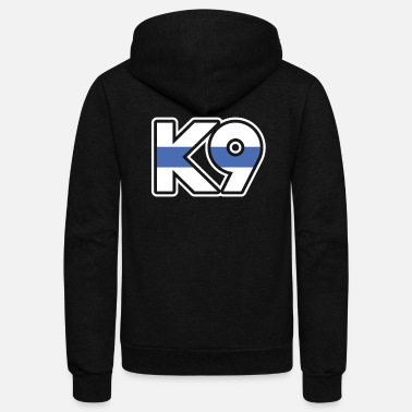 Thin Blue Line | K9 Unit, K9 Handler, K9 Officer - Unisex Fleece Zip Hoodie