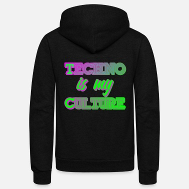 Jumpstyle Techno Culture Quote | Rave Raver Trance Hardstyle - Unisex Fleece Zip Hoodie