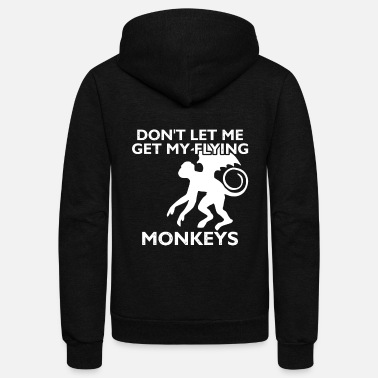 Wicked Wizard don't let me get my flying monkey halloween - Unisex Fleece Zip Hoodie
