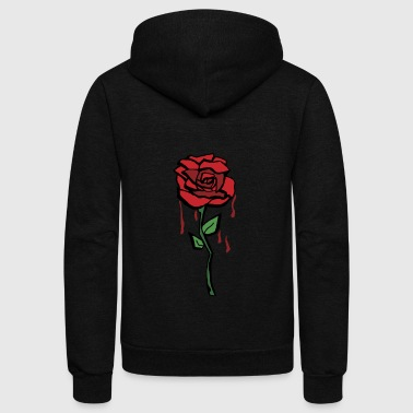 Bleeding Rose - Unisex Fleece Zip Hoodie