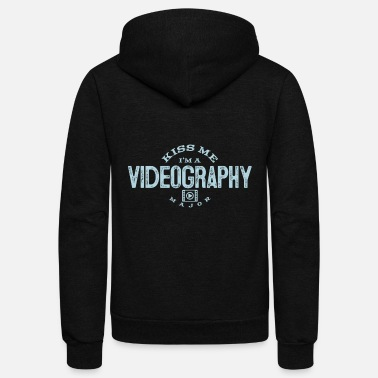 Videography Funny Cameraman Kiss Me I'm A Videography Major - Unisex Fleece Zip Hoodie