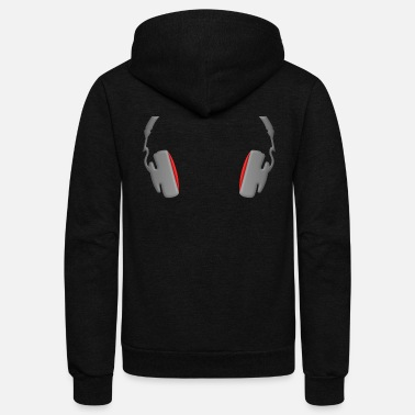 Mp3 Headphones Cool Simply and Classy - Unisex Fleece Zip Hoodie