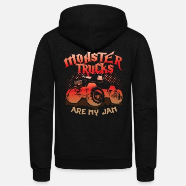 Monster Monster Trucks Are My Jam - Unisex Fleece Zip Hoodie