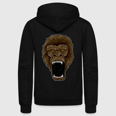 Rampage Gorilla On Rampage - Ape Alpha Leader Zoo Rage - Unisex Fleece Zip Hoodie