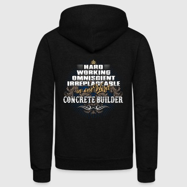 Concrete Shirts for Men, Job Shirt Concrete Builder - Unisex Fleece Zip Hoodie
