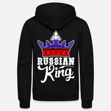 Russian Russian King Tshirt - Unisex Fleece Zip Hoodie