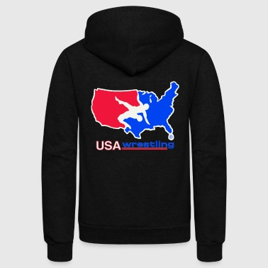 Usa USA WRESTLING LOGO - Unisex Fleece Zip Hoodie