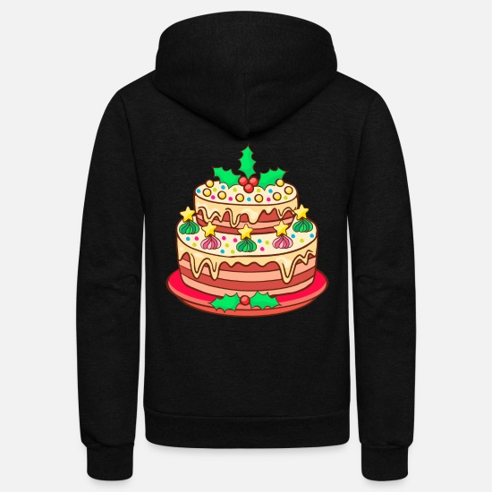 Winter Hoodies & Sweatshirts - Christmas Bakery Cookies Cakes Biscuit Xmas - Unisex Fleece Zip Hoodie black