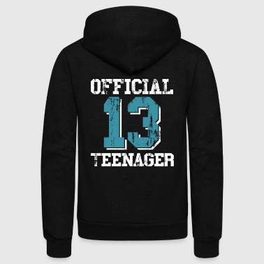 13th Birthday 13th Birthday Gift Official Teenager for Boys - Unisex Fleece Zip Hoodie