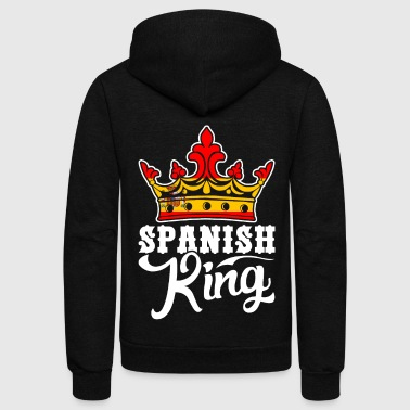 Spanish King Tshirt - Unisex Fleece Zip Hoodie