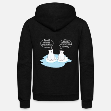 Planet Climate Change Polar Bear Earth Day Cool Gift - Unisex Fleece Zip Hoodie