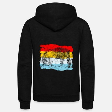 Thailand Tiger Retro - Unisex Fleece Zip Hoodie