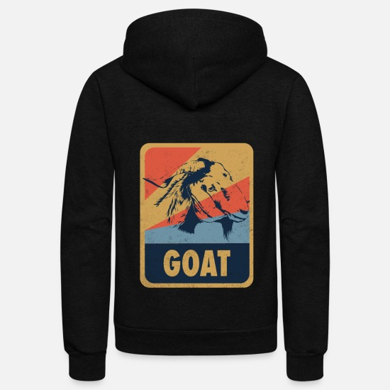 Capricorn Hoodies & Sweatshirts - Goat Animal Retro Gift - Unisex Fleece Zip Hoodie black