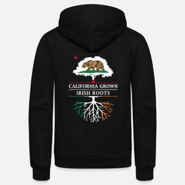 Irish Roots California Grown with Irish Roots - Unisex Fleece Zip Hoodie