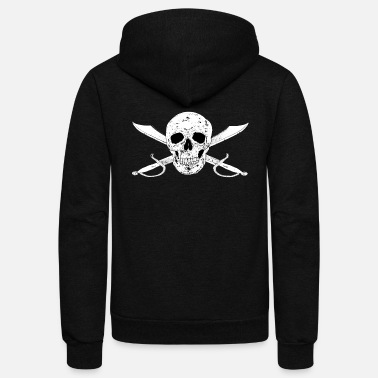 Jolly Roger Pirateflag Jolly Roger - Unisex Fleece Zip Hoodie