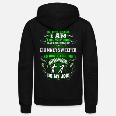 Chimney Shirts for Men, Job Shirt Chimney Sweeper - Unisex Fleece Zip Hoodie