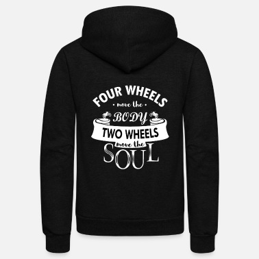 Motorcycle Motorcycle Rider Shirt/Hoodie-Two Wheels move Soul - Unisex Fleece Zip Hoodie