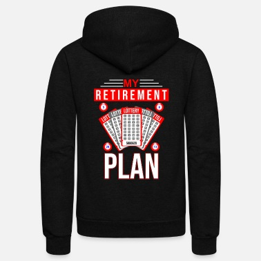 Jackpot Retirement Lottery Gift | Pensioner Jackpot Retire - Unisex Fleece Zip Hoodie