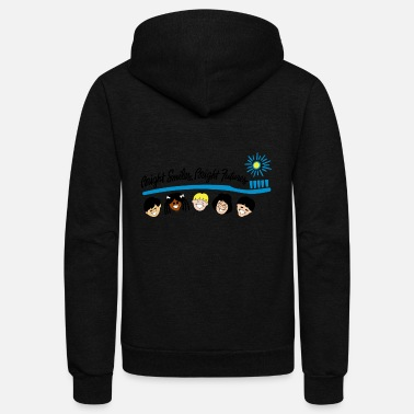 Bright Colors Bright Smiles Bright Futures - Unisex Fleece Zip Hoodie