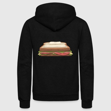 sandwich toast fastfood breakfast - Unisex Fleece Zip Hoodie