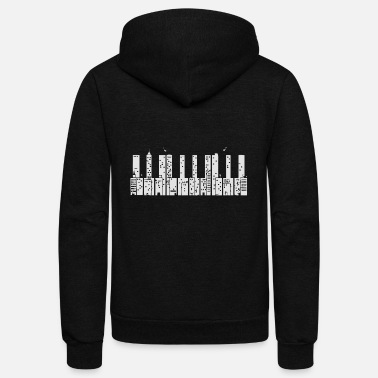 Piano Piano Skyline - Unisex Fleece Zip Hoodie
