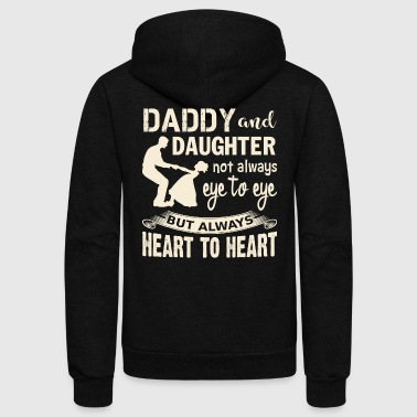 Quotes Daddy And Daughter T Shirt - Unisex Fleece Zip Hoodie