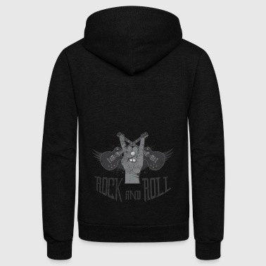 Rock and Roll - Unisex Fleece Zip Hoodie