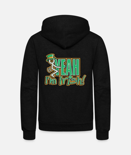 Irish Pubs Hoodies & Sweatshirts - Fuck Yeah I m Irish - Unisex Fleece Zip Hoodie black