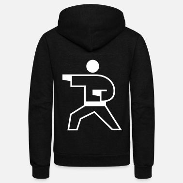 Geometry Karate Guy - Unisex Fleece Zip Hoodie
