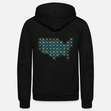 Periodic Periodic Table of the States - Unisex Fleece Zip Hoodie