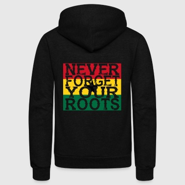 never forget roots home Ghana - Unisex Fleece Zip Hoodie