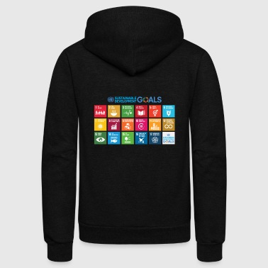 Sustainable Development Goals chart - Unisex Fleece Zip Hoodie