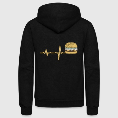gift heartbeat fastfood hamburger - Unisex Fleece Zip Hoodie