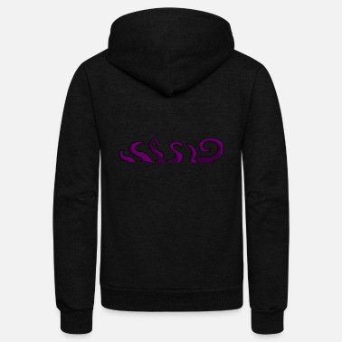 Tentacle Purple Tentacles - Unisex Fleece Zip Hoodie