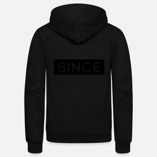 1980 Hoodies & Sweatshirts - Since - Since Your Text - Unisex Fleece Zip Hoodie black