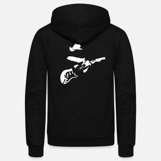 Guitar Hoodies & Sweatshirts - Guitar Legends Series - Unisex Fleece Zip Hoodie black