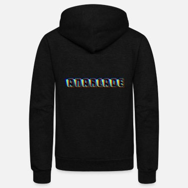 Anarcade Glitch Logo - Unisex Fleece Zip Hoodie