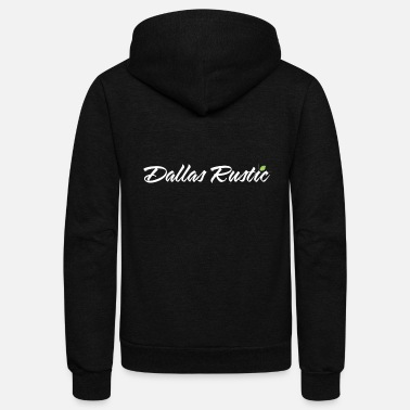 Rustic dallas rustic wht - Unisex Fleece Zip Hoodie