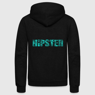 Hipster Hipster Elements funny Shirt Gift Distressed - Unisex Fleece Zip Hoodie