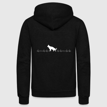 German-shepherd German Shepherd - German Shepherd Heartbeat - Unisex Fleece Zip Hoodie