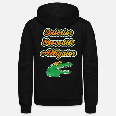 Hip Meme Interior Crocodile Alligator Funny Gift - Unisex Fleece Zip Hoodie