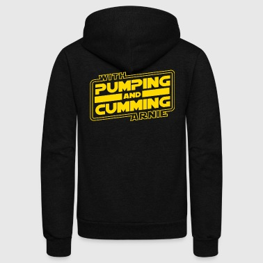 Pumping and Cumming with Arnold! - Unisex Fleece Zip Hoodie