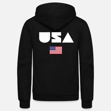 Emblem USA America US United States of America Gift - Unisex Fleece Zip Hoodie