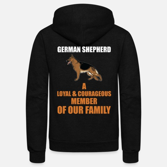 German Hoodies & Sweatshirts - The German Shepherd - Unisex Fleece Zip Hoodie black