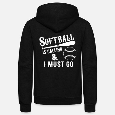 Softball softball is calling - Unisex Fleece Zip Hoodie