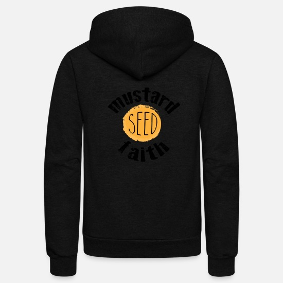 Love Hoodies & Sweatshirts - Mustard Seed Faith - Unisex Fleece Zip Hoodie black