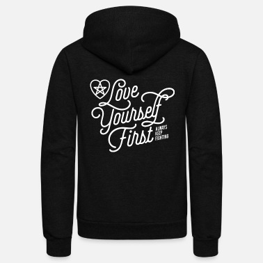 First Jared Padalecki fan - Love yourself first - Unisex Fleece Zip Hoodie