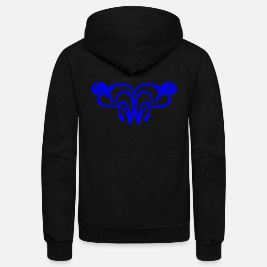 Typography Hoodies & Sweatshirts - Ornament - Unisex Fleece Zip Hoodie black