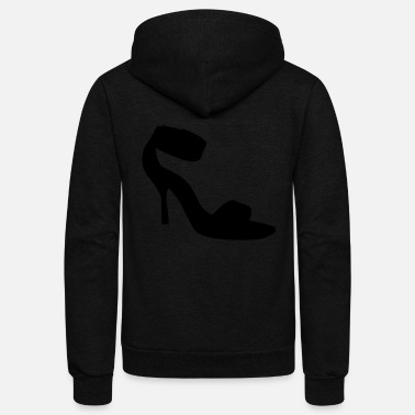 Highheels Vector highheels Silhouette - Unisex Fleece Zip Hoodie