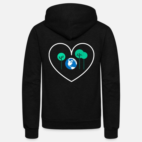 Planet Hoodies & Sweatshirts - save the planet - Unisex Fleece Zip Hoodie black